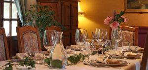 Table d'hôtes couverts