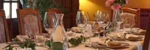 Table d'hôtes préparée